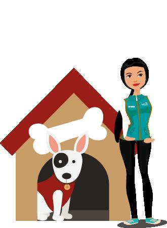 Lugares especializados o el hogar de Pet Sitters